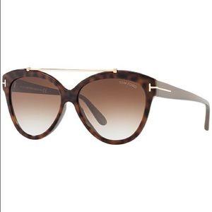 Tom Ford Livia Cat-Eye Brow-Bar Sunglasses